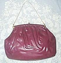 Purple vinyl handbag one thumb200