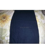 Designer Sleeper/ Dust Bag Prada Navy Cotton with Navy Logo - $6.99