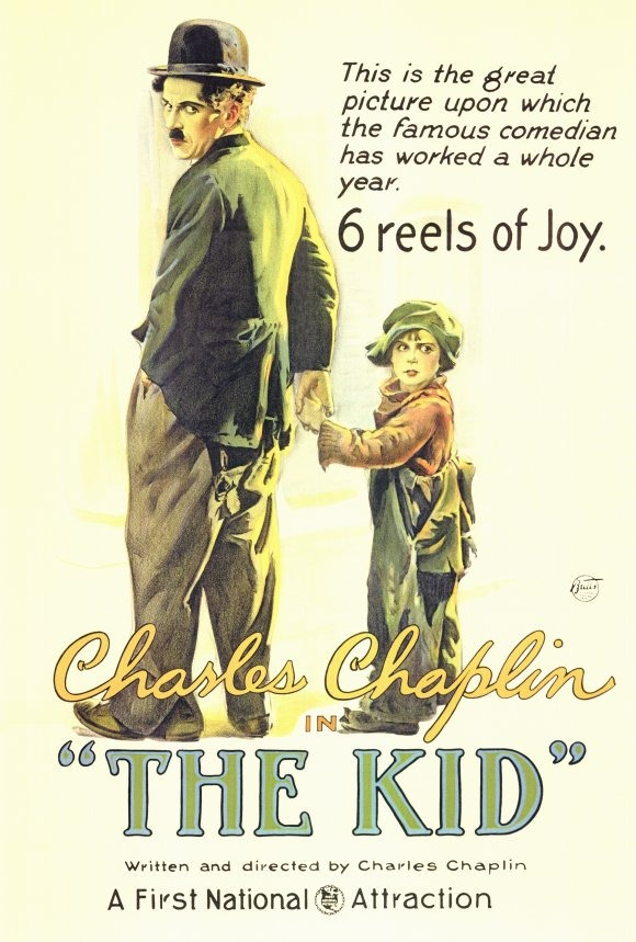 CHARLIE CHAPLIN POSTER 27x40 INCHES THE KID MOVIE POSTER 69x101 CMS