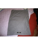 Designer Sleeper/ Dust Bag Gray Miu Miu with Black Logos - $6.99