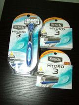 NIB Schick Hydro 3 Razor System,1 razor +10 cartridges - $21.99