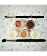 Blend Mineral Cosmetics Natural Eyes 7-Pc Set of 5 Shimmers & 2 Brushes ... - $53.61