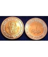 "2005 (AH 1426) Egypt 1 Pound , Km-940,""KING TUT"" Bi-metal, BU - $2.99"