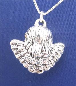 Cherub ANGEL FACE 18 Inch Necklace 925 Silver N22.I