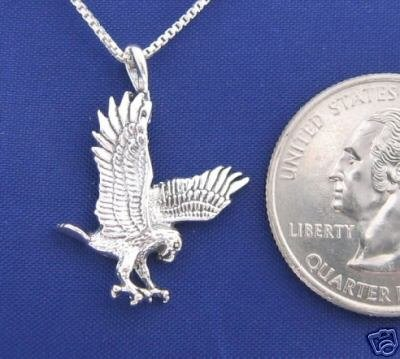 ccj HUNTING EAGLE 18 Inch Necklace 925 Silver N60