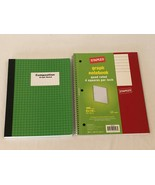 Staples Lot of 2 Spiral Quad Ruled Engineers Graph Ruled Composition Not... - $9.99