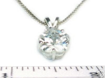 9mm Lily Cut CLEAR CZ 16 Inch Necklace 925 Silver N78