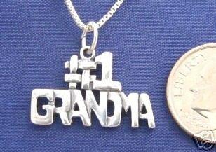 ccj #1 GRANDMA 18 Inch Necklace 925 Silver Womens N09.C