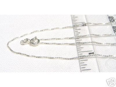 18 Inch BOX CHAIN 925 Sterling Silver 1mm BX.18