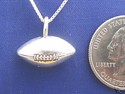 FOOTBALL 20 Inch Necklace 925 Sterling Silver N58