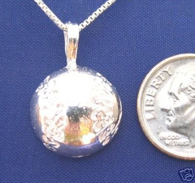 BASEBALL 18 Inch Necklace 925 Silver Sport N48.A