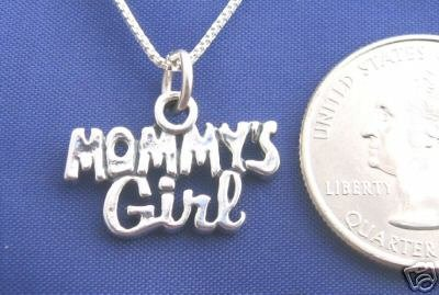 MOMMYS GIRL 16 Inch Necklace Pendant 925 Silver N43