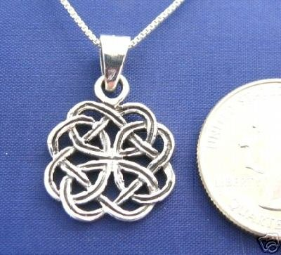 ccj CELTIC KNOT 18 Inch Necklace 925 Silver N27.M