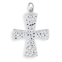 Hammered Sterling Silver Cross Pendant - $35.99