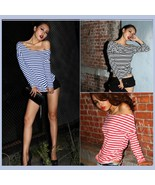 Long Sleeve Sexy Off Shoulder Fashion Cotton T-... - £26.84 GBP