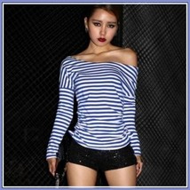 Long Sleeve Sexy Off Shoulder Fashion Cotton T-Shirt 5 Assorted Colors image 2