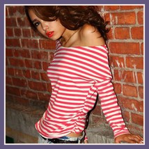Long Sleeve Sexy Off Shoulder Fashion Cotton T-Shirt 5 Assorted Colors image 4