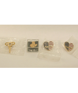 Group of 4 Pins September 11th x2, Cowboy Hat with Microphones and ATSEI... - $13.00