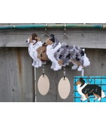 Collie Rough crate tag or hang anywhere, herding sheep dog, choose your ... - $23.00