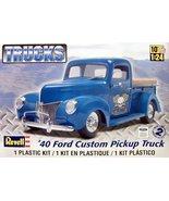 Revell TRUCKS #85-4928 '40 Ford Custom Pickup Truck MODEL KIT *NEW IN BOX!*  - $25.00