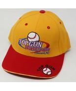 Top Gun World Series Concord NC Baseball Cap Hat Yellow Red Adjustable New - £11.12 GBP