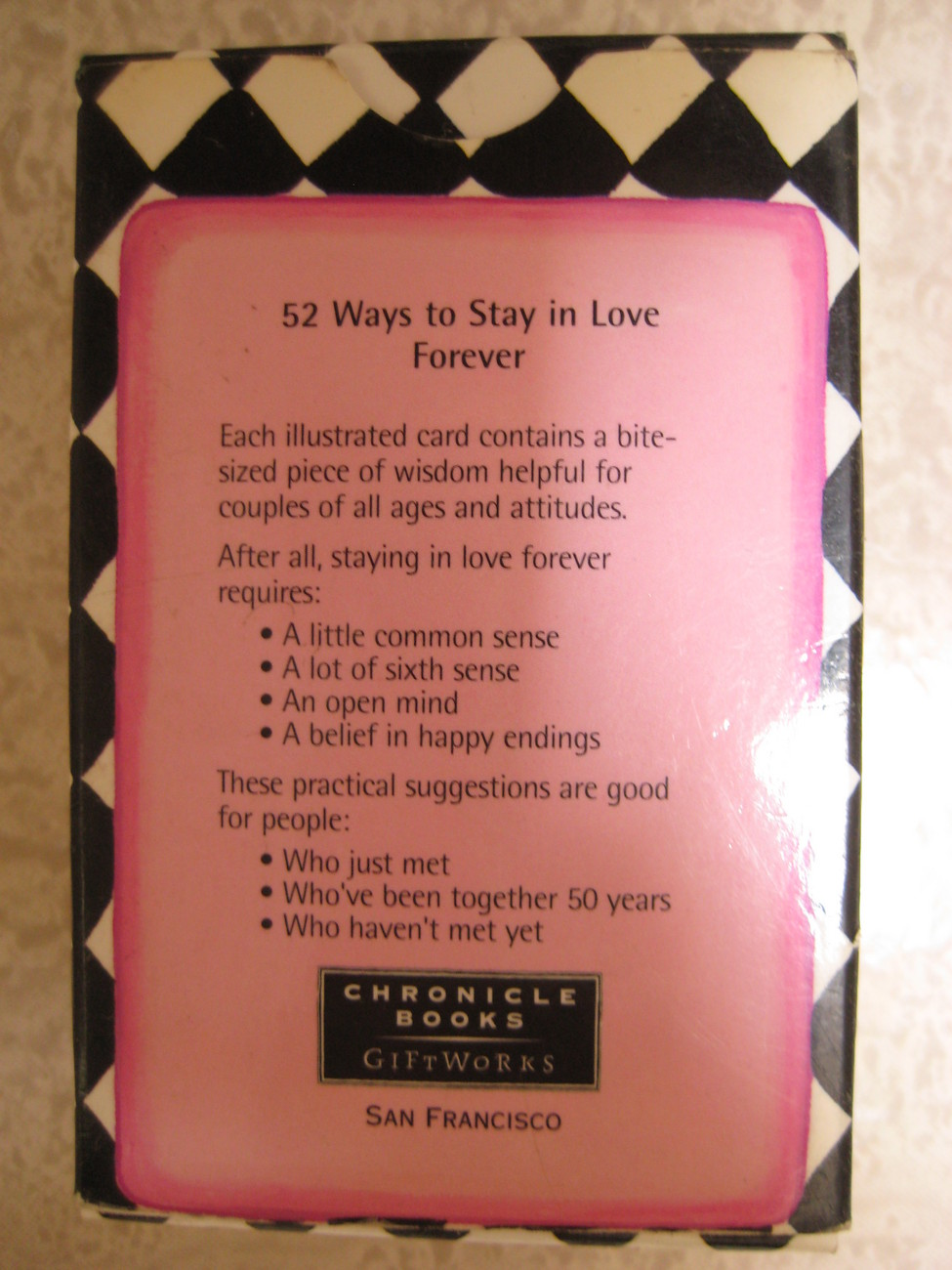 52 Ways to Stay in Love Forever by Lynn Gordon (1997)
