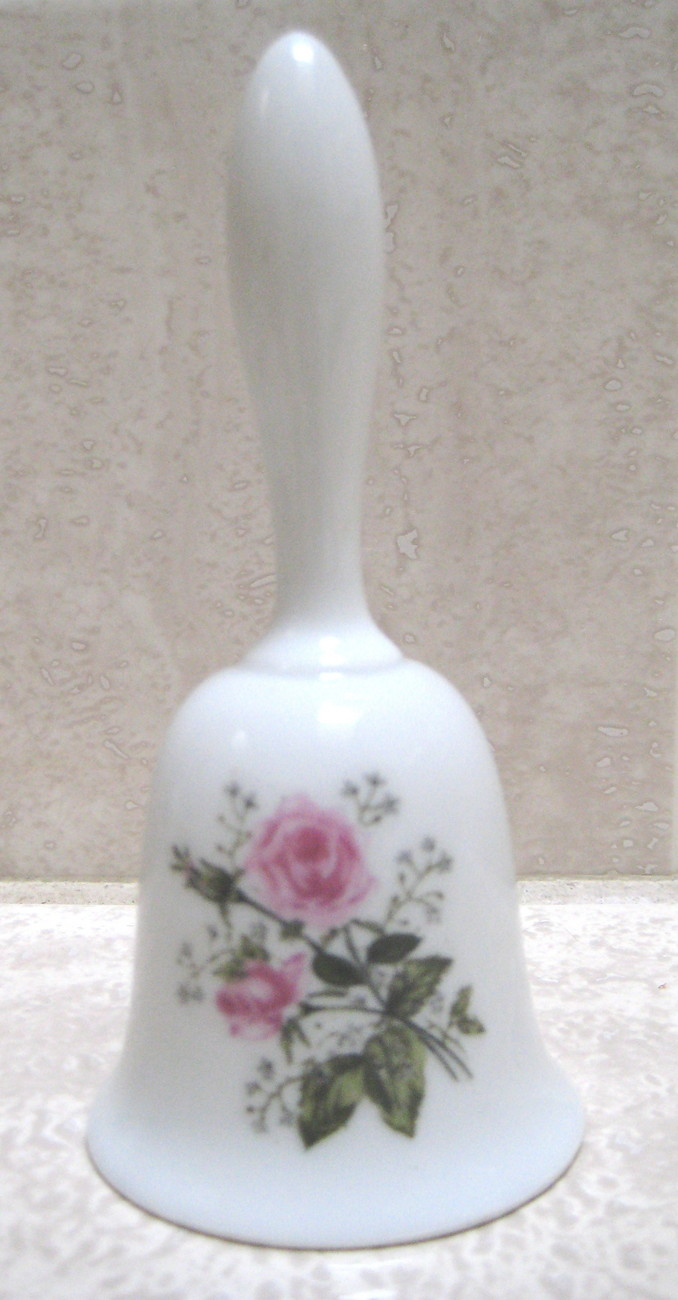 Beautiful Antique Porcelain Flower Bell- MINT CONDITION