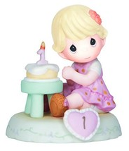 Precious Moments,  Growing In Grace, Age 1, Bisque Porcelain Figurine, B... - $36.74