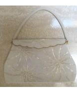 VINTAGE HAND BEADED EVENING BAG / BRIDAL BAG- EXC COND. - $35.99
