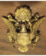 VINTAGE WWI Army Brass OFFICER Hat Pin w Fastner - RARE - $34.99