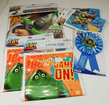 Hallmark Toy Story Birthday Party Lot invitations banner favor bags ribb... - $18.99