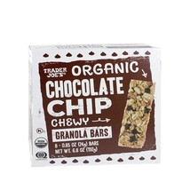Trader Joe's Organic Chocolate Chip Chewy Granola Bars 6.8 oz. (Pack of 2 bxes) - $9.40