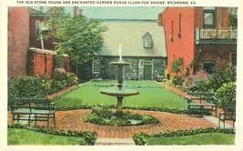 Old Stone House and Enchanted Garden, Poe Shrine, Richmond, VA, 1920s Po... - $5.99