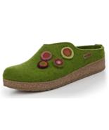 HAFLINGER GZL Grizzly Kanon Chloe Grasgrun Green  cork wool Slipper EU 35 - $65.99