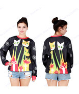 Joey's laser beam cats Christmas Training Sweaters Black Ugly Christmas ... - $24.56+
