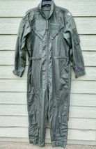 US AIR FORCE USAF NOMEX FIRE RESISTANT FLIGHT SUIT GREEN CWU-27/P - 40R - $59.40
