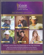 ACADEMY OF COUNTRY MUSIC 2012 NOMINEE SPOTLIGHT BOOK - $9.95