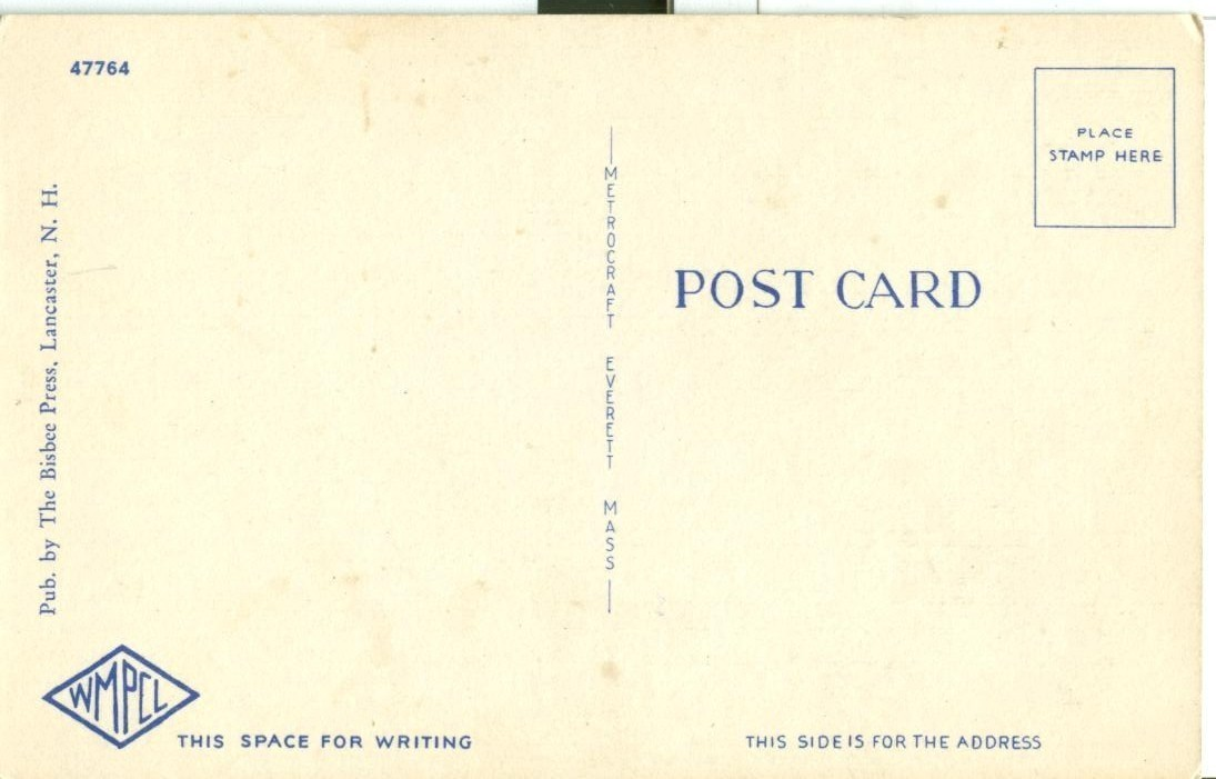 Out in the Open, Camping in the White Mts. NH, unused linen Postcard
