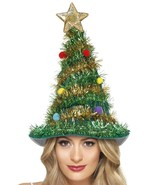 Smiffy's Christmas Tree Hat Star Tinsel Festive X-Mas Holiday Costume 41067 - $10.39