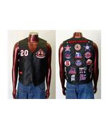 Mens black Sleeveless leather Vest Jacket Negro... - $76.00