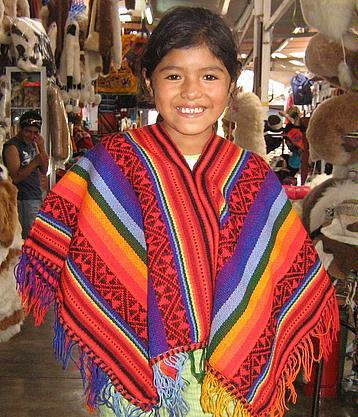 Colorful poncho,outerwear made of Alpacawool