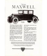 1923 Maxwell Motor The Good Maxwell Automobile print ad - $10.00