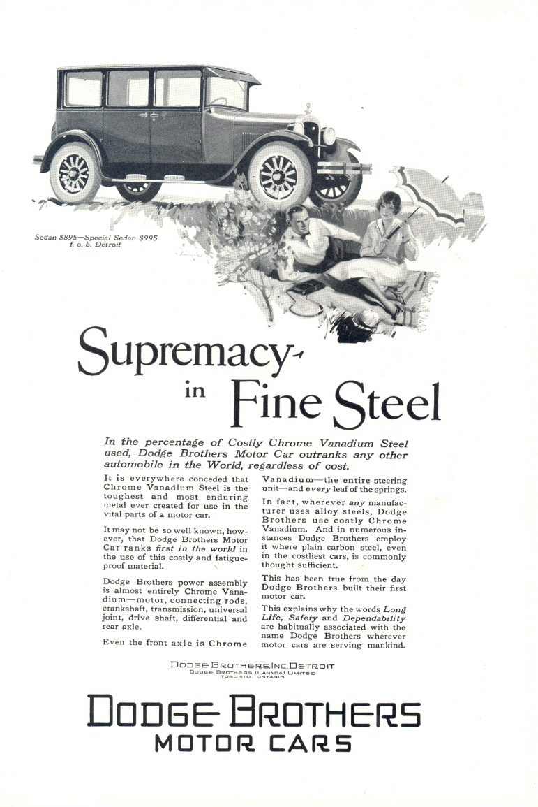 1926 Dodge Brothers Special Sedan classic vintage print ad