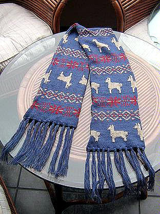 Ethnic peruvian scarf,shawl made of Alpacawool