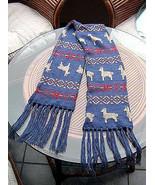 Ethnic peruvian scarf,shawl made of Alpacawool - $33.00