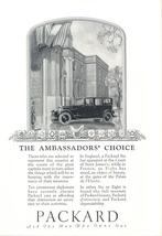 1926 Packard The Ambassador's Choice Car print ad - $10.00