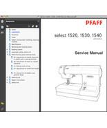Pfaff Select 1520, 1530 & 1540 Repair SERVICE MANUAL & Parts -2- MANUALS SET CD - $24.95