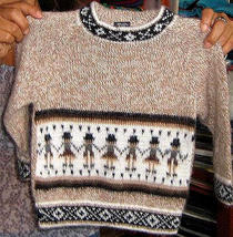 Sweater with ethnic peruvian designs,Alpacawool - $38.00