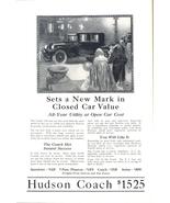 1924 Hudson Coach Closed Car classic vintage print ad - $10.00