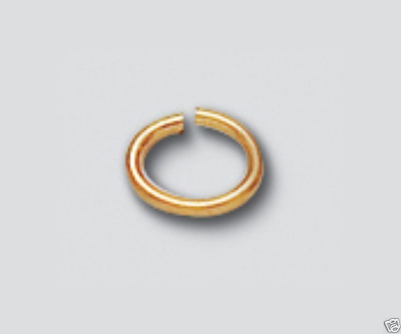 (10) NEW 14-K YELLOW GOLD FILLED OVAL OPEN JUMP RING